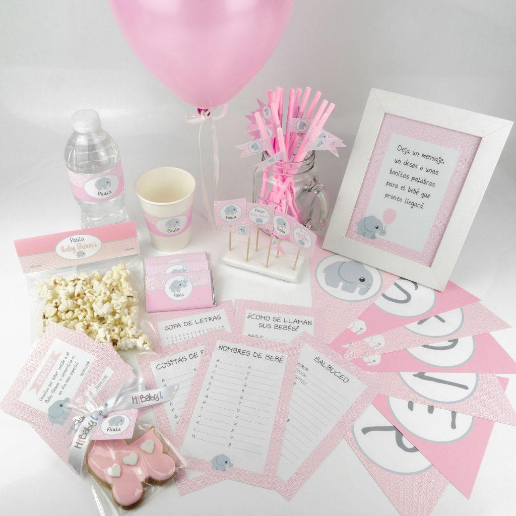 Baby-Shower-Imprimible-Personalizado-Rosa-Elefante